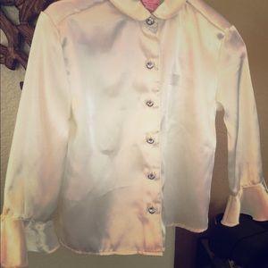 Satin like blouse for Little ladies